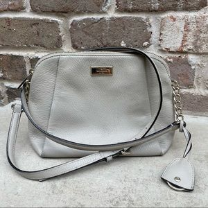 Kate Spade   taupe pebbled leather crossbody
